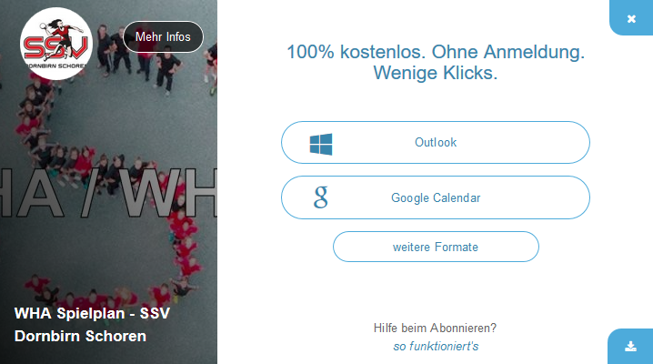 Download kalender neu
